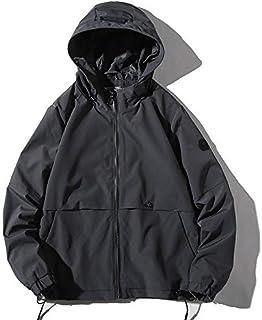 HAWEEL Hooded Youth Windproof Casual Trend Simple Jacket for Men Windbreaker Jacket