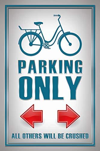 FS Bike Parking Only Parking Sign Tin Sign Curved Metal Sign 20 x 30 cm