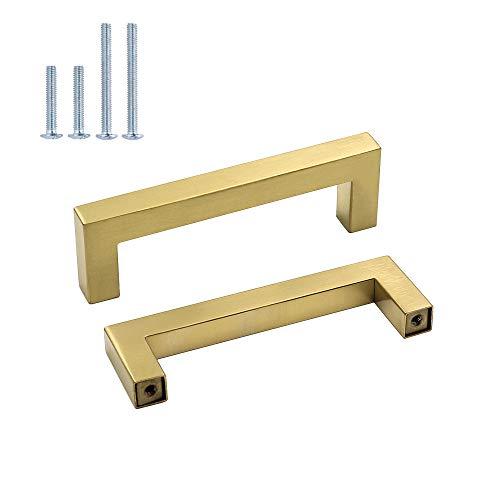 Goldenwarm Lot de 10/un seul trou Placard et /à partir de porte placard tiroirs Poign/ées de meubles de chambre /à coucher 50/mm//2IN Longueur totale Overall Length:50mm dor/é acier inoxydable