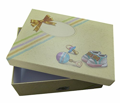 Erinnerungsbox Baby für all die schönen Erinnerungen aus Babys erstes Jahr. Grosse Babybox/Aufbewahrungsbox für die Baby Schätze und ideales Geschenk zur Geburt von Babywelt-AS