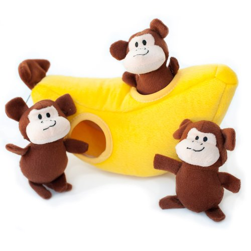 ZippyPaws - Interactive Squeaky Hide and Seek Plush Dog Toy