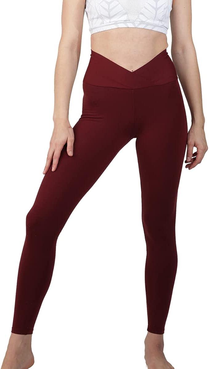 Gianine Bikini Daniella Burgundy v Fold Activewear Legging