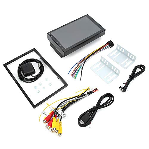 GPS Navigatior, 7 pulgadas HD Coche Reproductor MP5 Navegación GPS Conexión telefónica Bluetooth Transmisor de radio FM