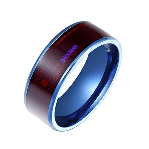 USUASI JWR820 Smart Ring Nuova Tecnologia Magic Finger per Android Windows NFC Phone Smart Accessori Taglia USA: 6-13 Blu