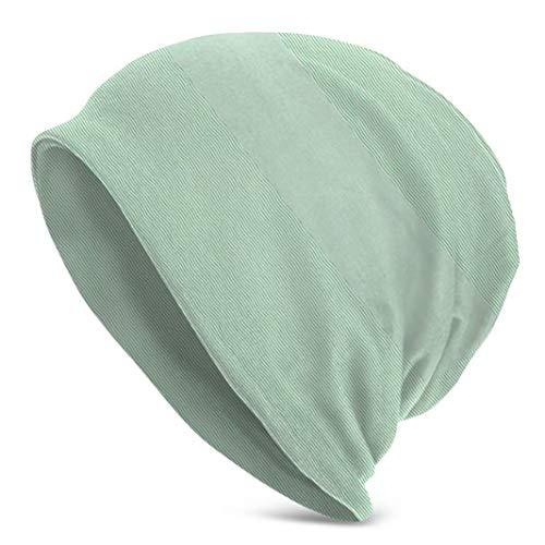Voxpkrs Muster Gebogene Linie auf grünem Papier I Winter Beanie Hats Warm Cuffed Knitted Skull Caps