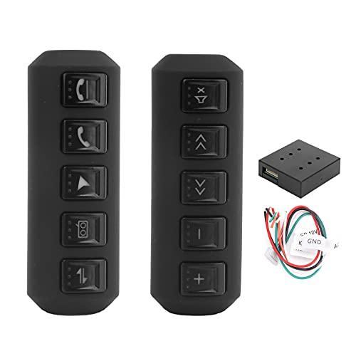 Interruptor de funcionamiento del volante, botón multifunción para el volante del coche con retroiluminación del controlador inalámbrico Botón multifunción universal para el volante