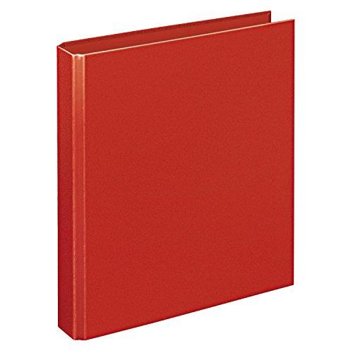 Veloflex 4156020 Ringordner Basic, Ringbuch, Ordner, DIN A5, 206 x 230 x 42, 4-Ring-Mechanik, rot