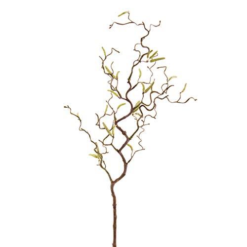 artplants.de Deko Haselnußzweig, 18 Kätzchen, 65cm - Künstlicher Zweig