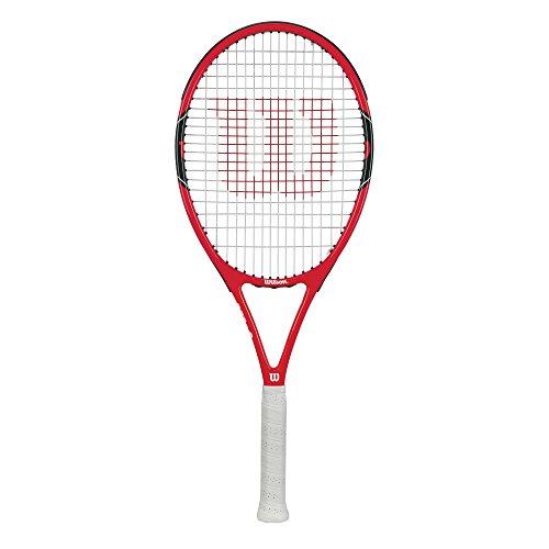 Wilson(ウイルソン) 硬式 テニスラケット [ガット張り上げ済] 初級者向け FEDERER 100(フェデラー100) グリップサイズ2 RED WRT311000 ウィルソン