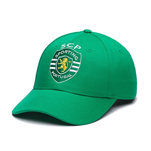 Ultimate Fan Hat - Sporting Clube De Portugal Snapback - Team Color Curved Bill Soccer Hat, One Size, Green
