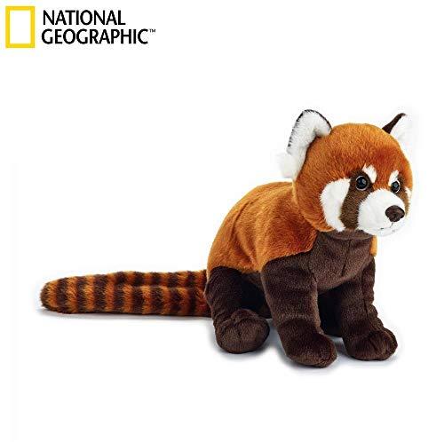 Venturelli Peluche Panda Rosso Animale Bosco Peluches Giocattolo 682, Multicolore, 8004332708384