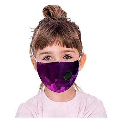 Lialbert - Protector bucal para niños, multifunción, diseño de dibujos animados 3D, máscara de algodón, transpirable, lavable, diseño de animales, bandana para el cuello, chico y niña A17 1 Piezas