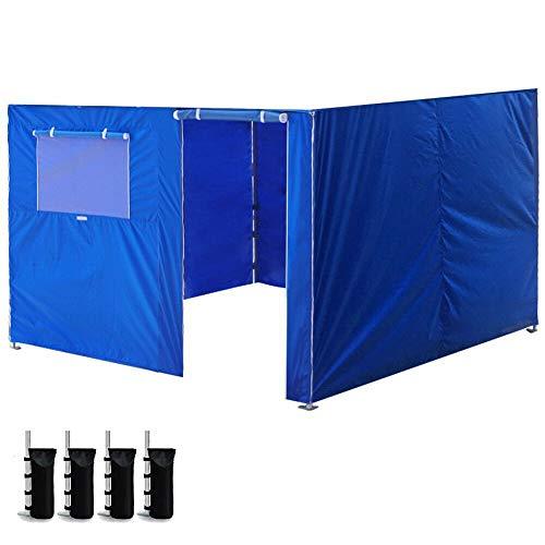 Robasiom Marquee Tent, 10x10ft Behuizing Rits Zijwanden Kit Panelen Voor EZ Up Canopy Gazebo Tent Blauw