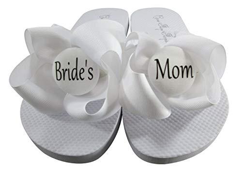 Choose Wedding Title Bow Flip Flops