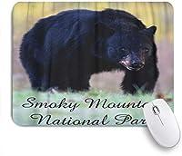 HASENCIV ゲーミング マウスパッド,グレートスモーキーマウンテン国立公園動物ブラックベア景色,マウスパッド レーザー&光学マウス対応 マウスパッド おしゃれ ゲームおよびオフィス用 滑り止め 防水 PC ラップトップ