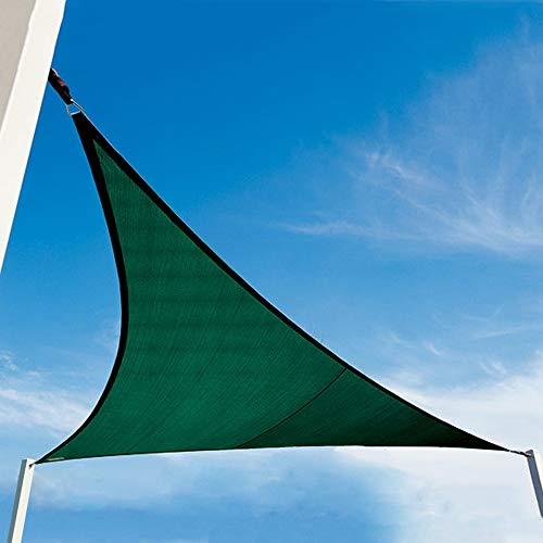 YUDEYU Dachdämmung Sonnenschutz/Schatten Heimgebrauch Terrasse Antialterung Gebogenes Dreieck Markise (Color : Dark green, Size : 5x5x5m)