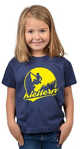 Bergesteiger Sprüche Kinder T-Shirt Wander Shirt : Klettern - Kindershirt Klettern Berge T-Shirt Gr: L = 146-152