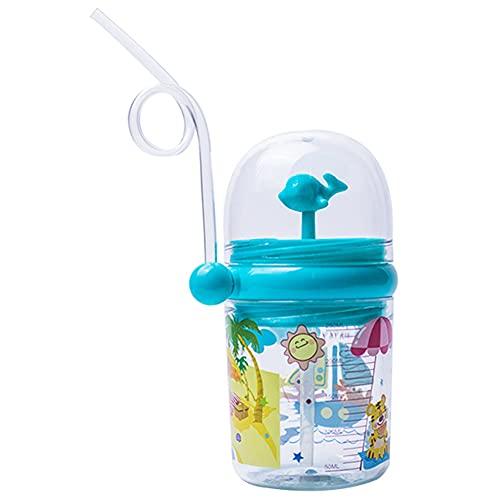 Almak, tazza da 250 ml, con acqua spray, per bambini, con paglia per acqua, per bambini, resistente alle cadute, con cannuccia