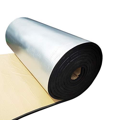 Z-XIYIN Dachisolierung Baumwolle, Selbstklebende Sonnencreme Hohe Temperaturbeständigkeit beherbergt Multifunktions-Wasserdichte Akustikplatten für den Außenbereich (Farbe : Schwarz)
