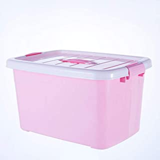 PPCP Storage Box Plastic Clothes Toy Storage Box (Blue, Pink) (Color : Pink)