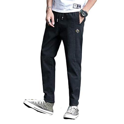 N/ A Pantalones Casuales para Hombres Moda Masculina Delgada cónica Frontal Plano Casual Casual