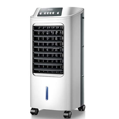 Ventiladores Enfriador De Aire Doméstico Pie De Verano con Tanque De Agua Evaporativo Pequeño Móvil (Color : Blanco, Size : 30.5x30x73cm)