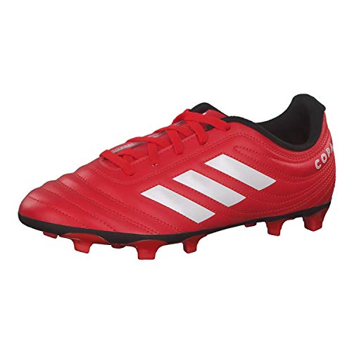 adidas Copa 20.4 (FG) Football Shoe, Active Red/Footwear White/Core Black, 33 EU