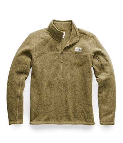 The North Face Men's Gordon Lyons Quarter Zip Pullover, British Khaki Heather, Medium