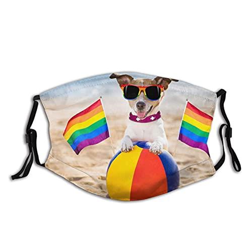 asdew987 Mascarilla facial de algodón ajustable para perros Gay para descansar en la playa, para hombres y mujeres