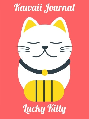 Kawaii Journal - Lucky Kitty: A super cute 6x8 inch journal with lined pages.
