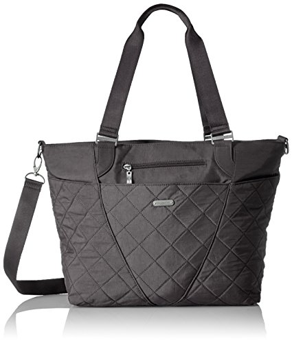 Baggallini Quilted Avenue Tote with RFID, PewterQuilt