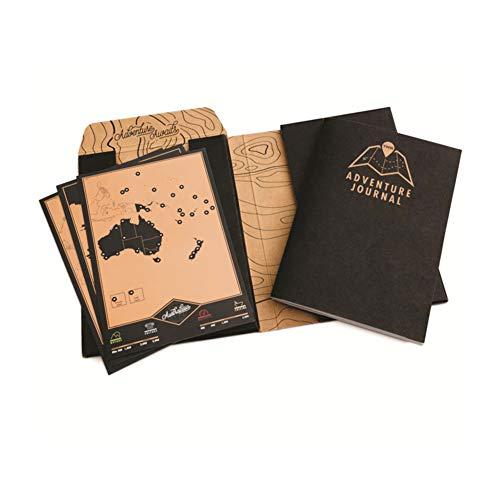 Aventura Diario de bricolaje rascar Guía de viajes Diario Gran regalo para raspar viajeros de Aventurero libro