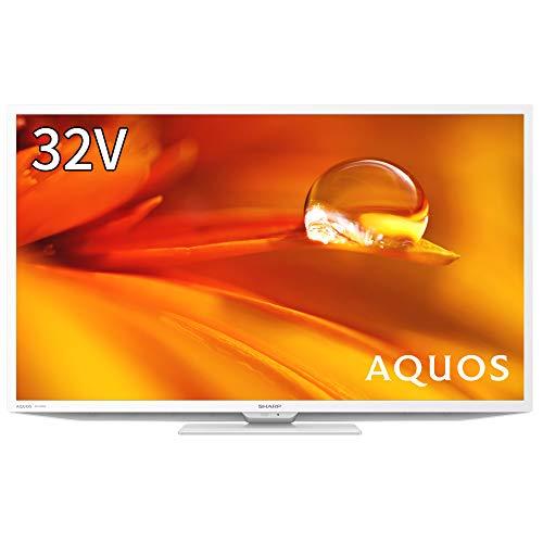 シャープ 32V型 液晶テレビ AQUOS ハイビジョン 外付けHDD裏番組録画対応 2021年モデル 2T-C32DE-W