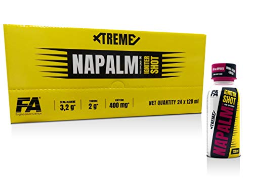 FA Xtreme Napalm IGNITER Shot - 24 x 120 ml Box - Geschmack: Orange-Cherry