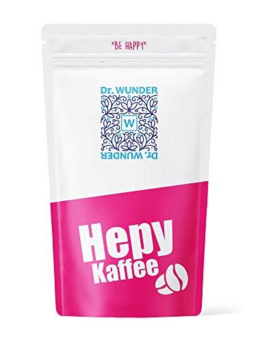 Dr. Wunder® Hepy Café 250g : Café Bio-Detox vert / doré spécialement pour le lavement pour le nettoyage du foie | Haute teneur en caféine et acide palmitique | Nettoyage de l'intestin