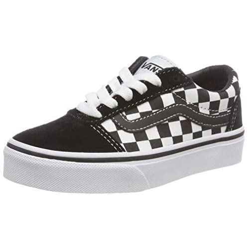 Vans Ward Suede/Canvas, Scarpe da Ginnastica, Checker Black/True White Pvj, 34 EU