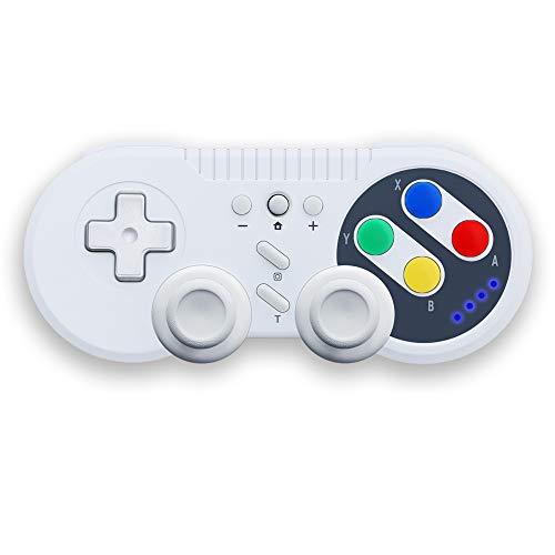 JFUNE Bluetooth Switch Controller Wireless Game Controller Gamepad für Nintendo Switch / PC Video Games (Retro Switch Controller) (Retro-Stil)