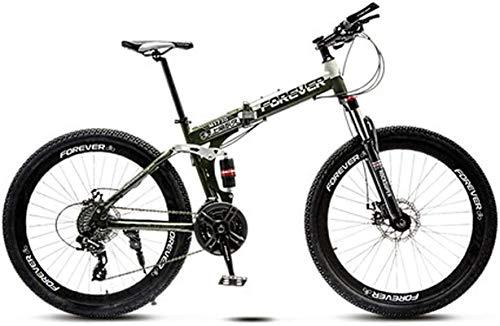 Bici da strada del Commuter City, Folding Mountain bike da 26 pollici, 21/24/27 di velocità, Full Suspension for mountain bike, ad alta acciaio al carbonio Folding Bike MTB, Freni doppio disco for mou