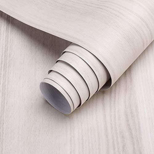 KINLO Holzoptik Klebefolie selbstklebend Folie 5 * 0.61M PVC Möbelfolie DIY Vintage Holz Dekorfolie Küchenschrank Aufkleber für Möbel Schrank Tische Wand Tapete