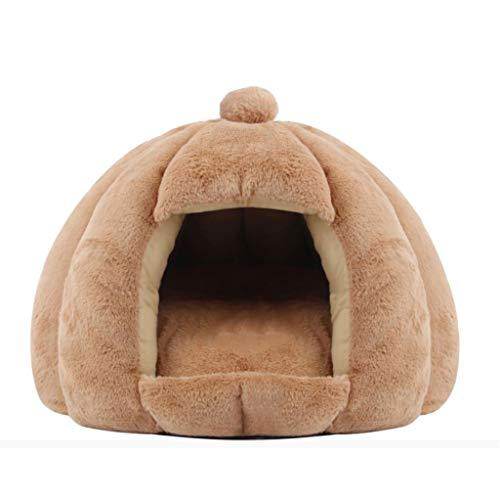 MCSHGPETY huisdier bed hond & kat bed grot gezellige Igloo huis voor grote katten Kittens kleine honden knuffels slapen plaats voor uw huisdier, L, Kameel