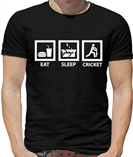 12 colori EAT Sleep Cricket Bambini T-shirt unisex