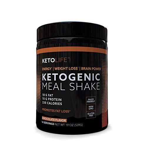 KetoLife 14 Servings Ketogenic Meal Shake, Chocolate Flavor