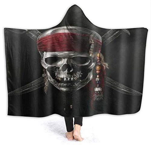 HATESAH Tragbare Hoodie Decke,Pirat,Umhang Druck Grafik warm für den Winter 80 *...