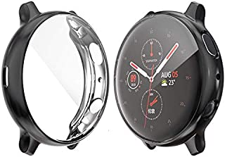 Protective Case for Samsung Galaxy Watch Active2 44mm Soft TPU Crystal Clear Guard Frame Shockproof Scratch Cover Black