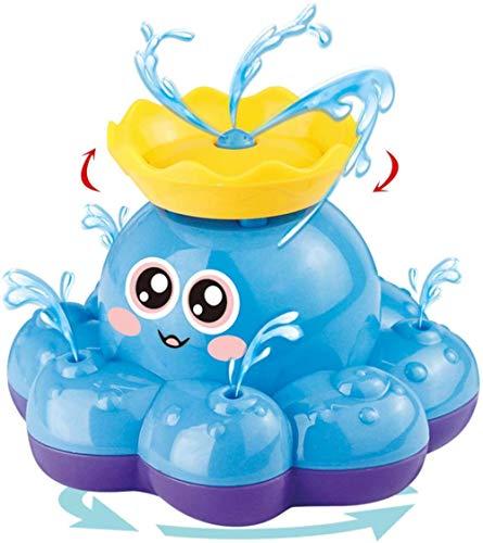 ANWEN Badespielzeug Sprühwasser Oktopus (gelegentliche Farbe) kann mit Springbrunnen Schwimmen und Sich drehen Badewanne-Duschbecken Badezimmerspielzeug für Babys Kleinkinder Kinderparty