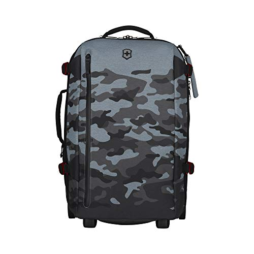 Victorinox VX Touring 2-in-1 Softside Upright Luggage, Camo/Blue/Black, Carry-On, Frequent Flyer (22.4')