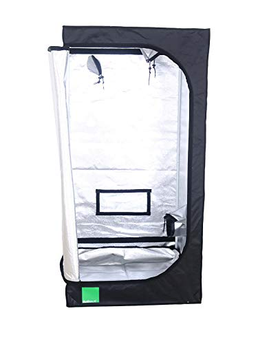 Budbox Lite Range - 40cm X 40cm Up To 1m X 1m Silver Mylar Grow Room Tents (LITE - 40x40x120)