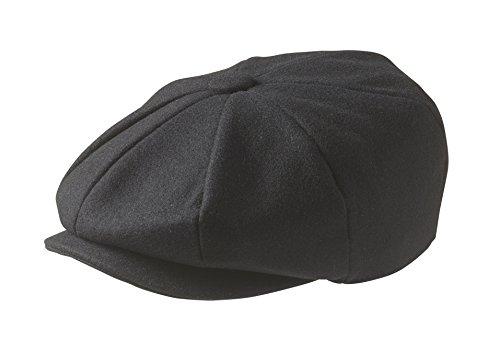 """Peaky Blinders Tellermütze, """"Newsboy""""-Stil, Wolle, 8 Stoffstücke Gr. Large (59 cm), schwarz"""