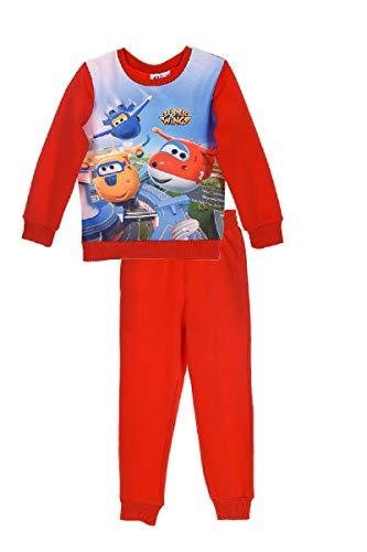 Super-Wings Sweat-Shirt mit Jogging-Hose Jogging-Anzug Trainings-Anzug, Größe:116