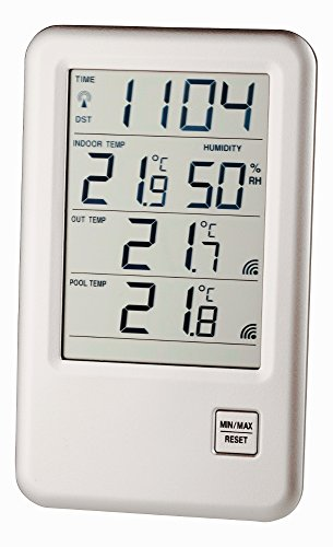 Malibu Spezial TFA 30.3053.99.IT Poolthermometer mit 2 Kabelsender (Silber)